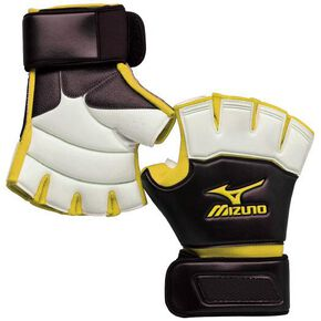 Keeper gloves (futsal), White × Black x Yellow
