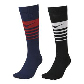 Stocking 2 pairs (rugby) [Unisex], White × Red