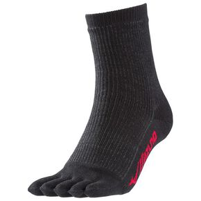 BREATH THERMO CORDURA socks crew length five-finger [mens], Black