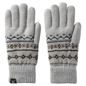 BREATH THERMO fluffy gloves [mens], Gray