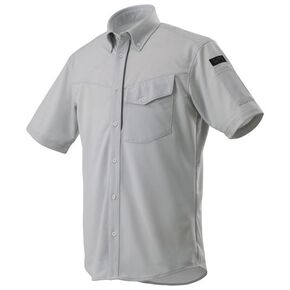 Knit work shirt short sleeve [mens], Vapor Silver