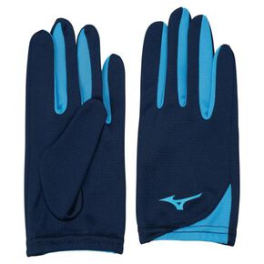Racing gloves [Unisex], Dress Navy × Sax