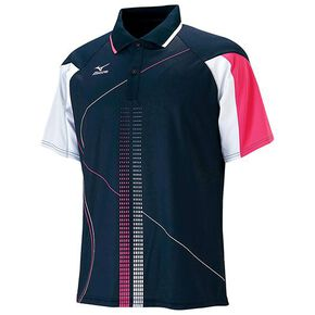 DRY SCIENCE /Game shirt(racquet sports) [Unisex], Navy × Magenta × Silver Gray