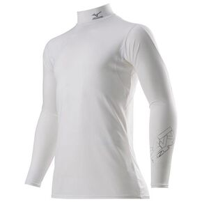 <Zero Plus> high-neck shirt long sleeve [Unisex], White