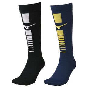 Stockings 2 pairs (rugby)[Unisex], White × Yellow