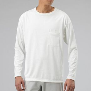 Heavy ounce quick dry long sleeve T-shirt [Unisex], Snow White