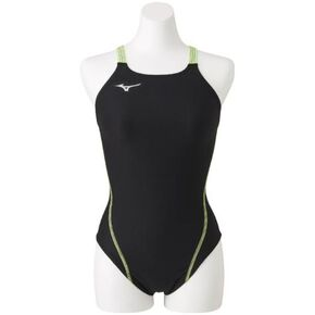 Medium cut for swimming practice [ladies], Black x Green Gecko