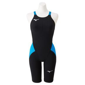 MX・SONIC α half spats for competitive swimming [Junior], Black x Sky Blue