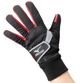 Work grab BREATH THERMO, windproof type [Unisex], Black x Red