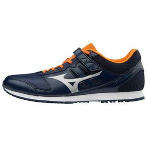Fire Fighting Shoes Fire Crew 4 (Training)[Unisex], Navy × Silver × Orange