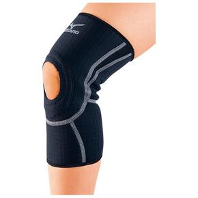 Supporter(for knee/for both left and right/1pc), Black x Silver