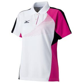 DRY SCIENCE Game shirt (racquet sports) [ladies], White × Pink