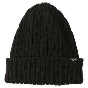 BREATH THERMO knitted  cap (back fleece)[Unisex], Black