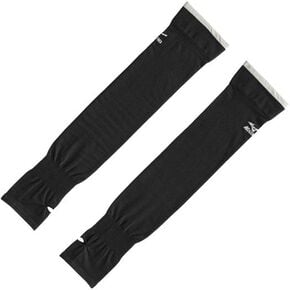 2 pieces arm cover [ladies], Black x Gray
