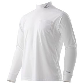 Hydro silver titanium work shirt long sleeve [mens], White
