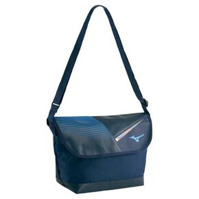 Flap shoulder bag, Navy × Sax