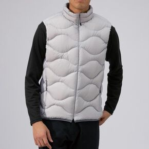 BREATH THERMO light weight down vest [mens], Vapor Silver
