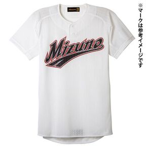【Mizuno Pro】Shirt / Semi-half button type [Unisex], White
