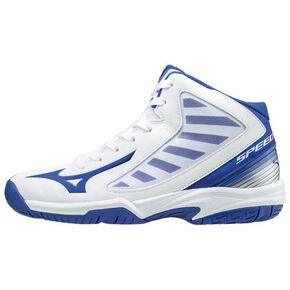 スピードチェイサーSL (basketball)[Junior], White × Blue × Silver