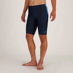 Half Spats for Aqua Fitness L(With three-dimentional paddings/Large Size /3XL、4XL)[mens], Navy × Blue