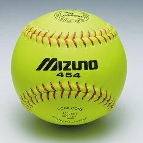 Synthetic leather softball practice ball Mizuno 454 (1 dozen), NONE