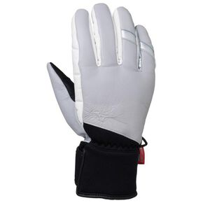 BREATH THERMO combination leather 5-finger gloves[Unisex], White