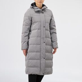 BREATH THERMO Middle weight down long coat [ladies], Steeple Gray