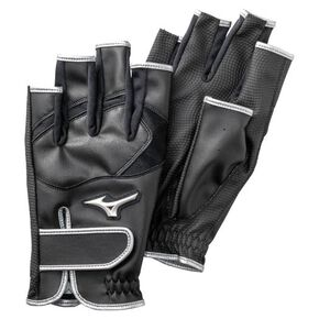 ZEROSPACE Finger type (both hands) (park golf) [mens], Black x Silver