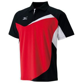 DRY SCIENCE Game shirt (racquet sports) [Unisex], Black x Red
