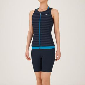 Separates for Aqua Fitness (3.5 cropped length)[ladies], Navy × Deep Turquoise