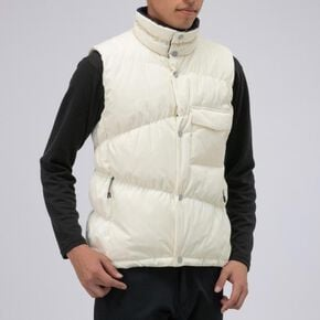 BREATH THERMO reflection gear travel middle weight down vest [mens], Pristine White