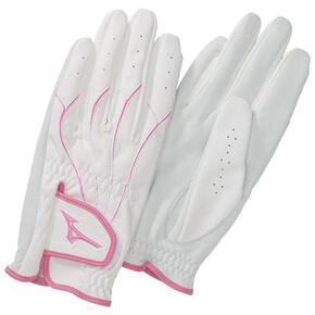 Gloves golf type (sheepskin leather/both hands)(parkgolf)[ladies], Pink