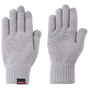 BREATH THERMO Knit Touch Panel Gloves [Unisex], Gray