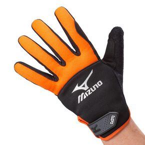 Work gloves anti-shock type [Unisex], Black x Orange