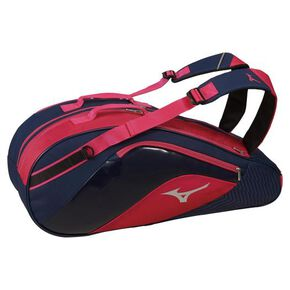 Racquet Bag (for 6 racquets), Navy × Pink