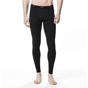 BREATH THERMO underwear EX long tights (no front opening)[mens], Black