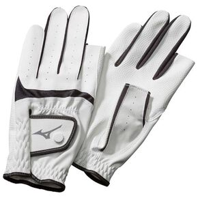 Gloves Synthetic finger type (both hands) (ground golf) [Unisex], White × Black