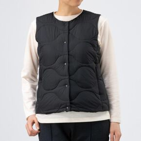BREATH THERMO inner down vest [ladies], Black