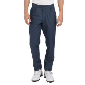 Chambray stretch MOVE pants(large size)[mens], Heather Navy