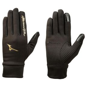【Mizuno Pro】Fleece gloves [Unisex], Black