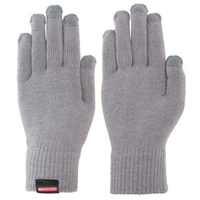 BREATH THERMO Inner knitted gloves (works with touchscreens)[Unisex], Gray
