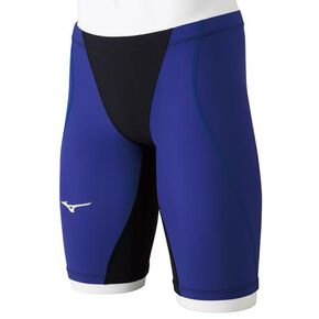 MX・SONIC G3 half spats for competitive swimming [Junior], Black x Blue