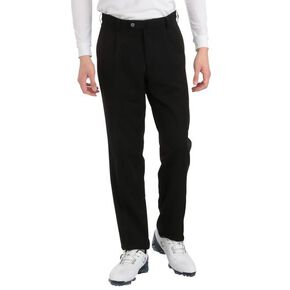 BREATH THERMO one tuck pants(large size)[mens], Black