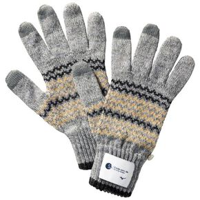 BREATH THERMO knitted gloves [Unisex], Gray