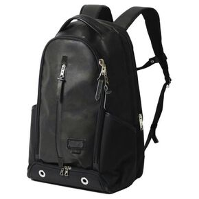 【master-piece x MIZUNO Collaboration Series】Backpack(20L) (1 tennis racket can be stored), Black Camouflage