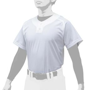 Shirt / Semi Half Button Type (baseball)[Unisex], White