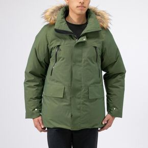 BREATH THERMO reflection gear travel heavy weight down Jacket[mens], Chives Green