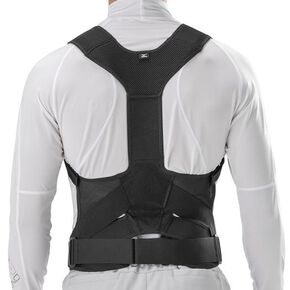 Lumbar pelvic belt Type with upper body belt [Unisex], Black