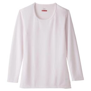 【Mizuno Official Online Limited】BREATH THERMO middle weight round neck cropped sleeve (without box)[ladies], White Pink