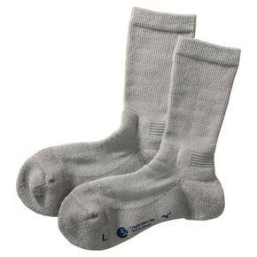 BREATH THERMO wool midweight socks [ladies], Gray
